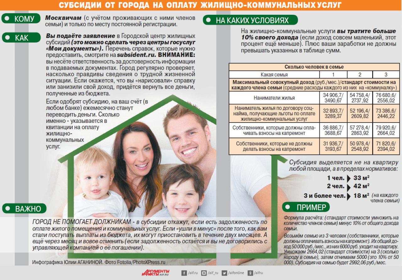 Оформить льготу на оплату коммунальных многодетной семье